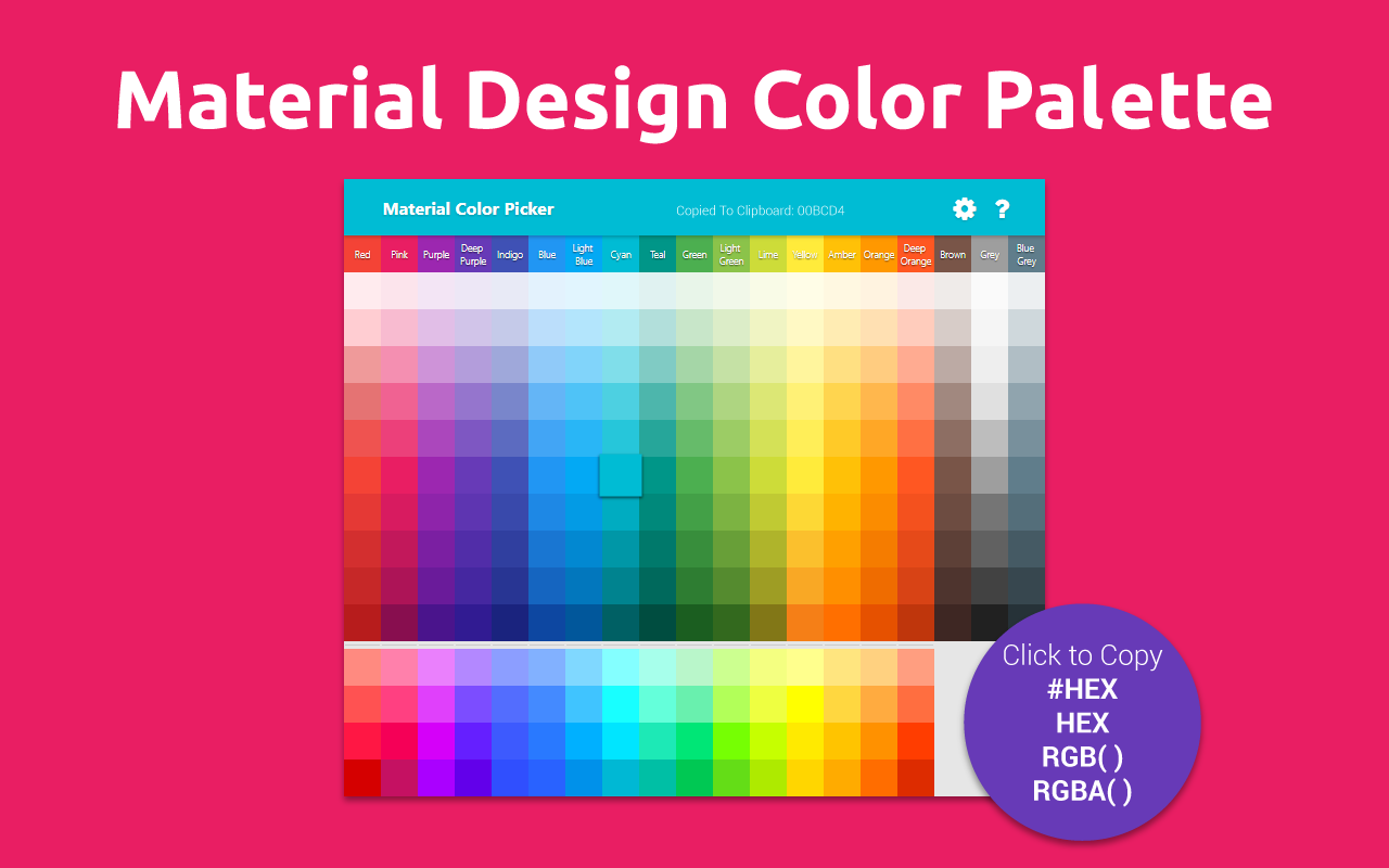 Material Color Palette Extension
